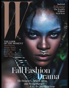 ריהאנה על שער המגזין W