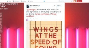 צילום מסך מדף הטוויטר של פול מקארטני
