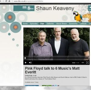 דייויד גילמור וניק מייסון בראיון ל-BBC (צילום מסך: bbc )